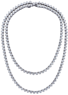 "30"" Mezzanine Necklace, Platinum, 45.6ct £42000"