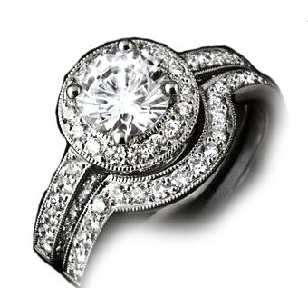 2.80ct White gold engagement ring and wedding band PRICE £7300 RRP £10 100