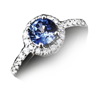 0.60ct Blue Sapphire White gold ring PRICE £2800 RRP £4000