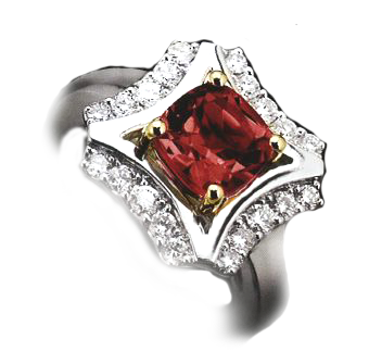 1.70ct Ruby White gold Multi stone ring PRICE £3400 RRP £5600