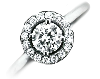 1.50ct Cluster Platinum ring PRICE £5500 RRP £7800
